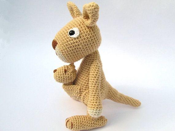 Mama Jill and Little Joey Kangaroo amigurumi pattern by Hello ... | 428x570