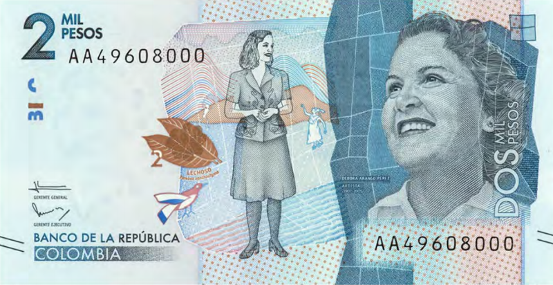 P-NEW 2017 NEW DESIGN Colombia 10000 10,000 Pesos UNC 2015