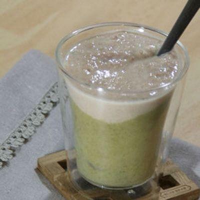 Velouté de haricots verts et sa crème de lard