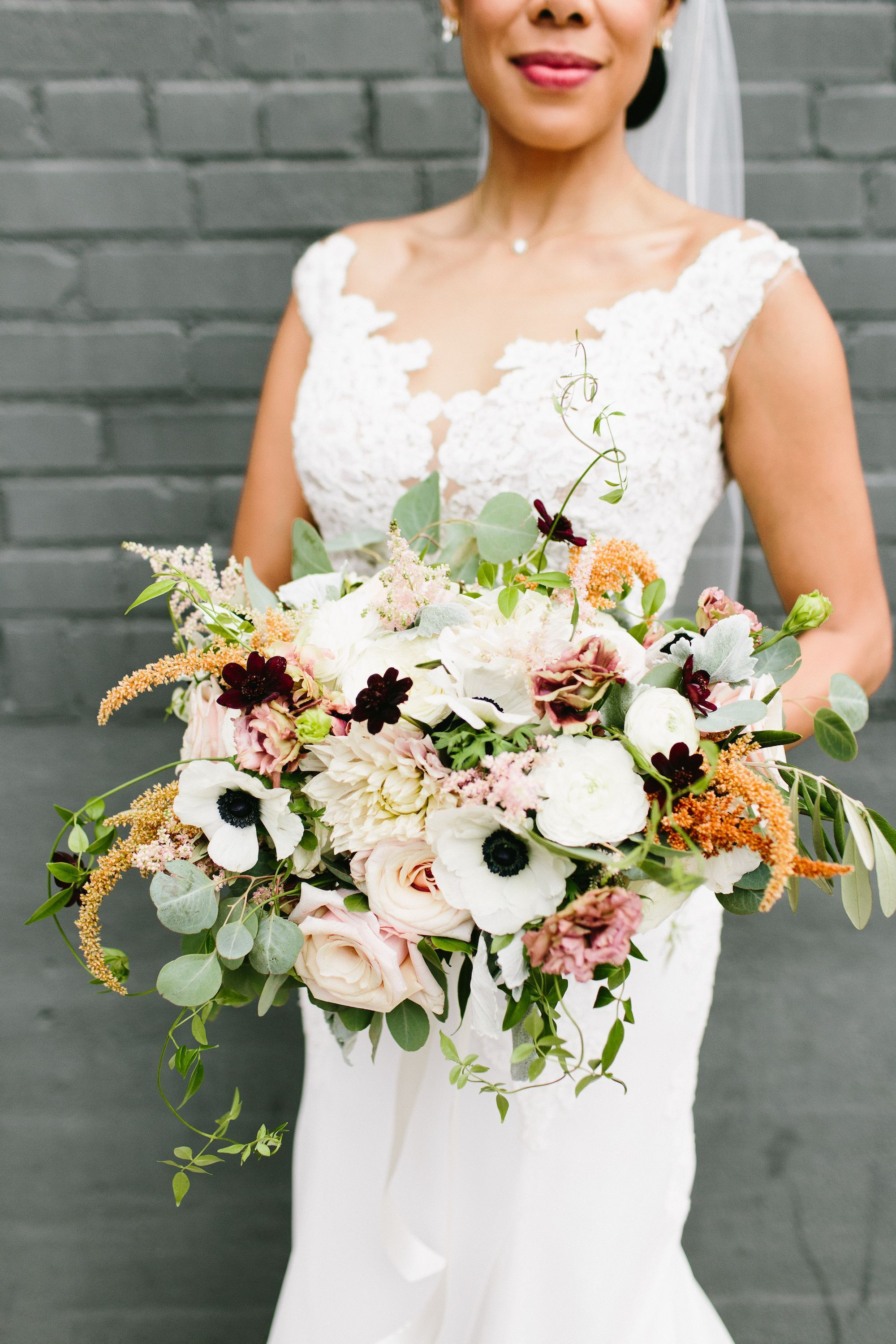 Oversize Anemone, Astilbe and Dahlia Bouquet #astilbebouquet Oversize Anemone, Astilbe and Dahlia Bouquet #astilbebouquet