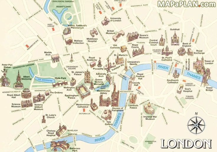 Travel infographic - London maps - Must-see historical places free