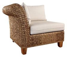 coastal living seagrass | Seagrass Corner Section Chair in Natural Finish w Cushions [ID 385387]