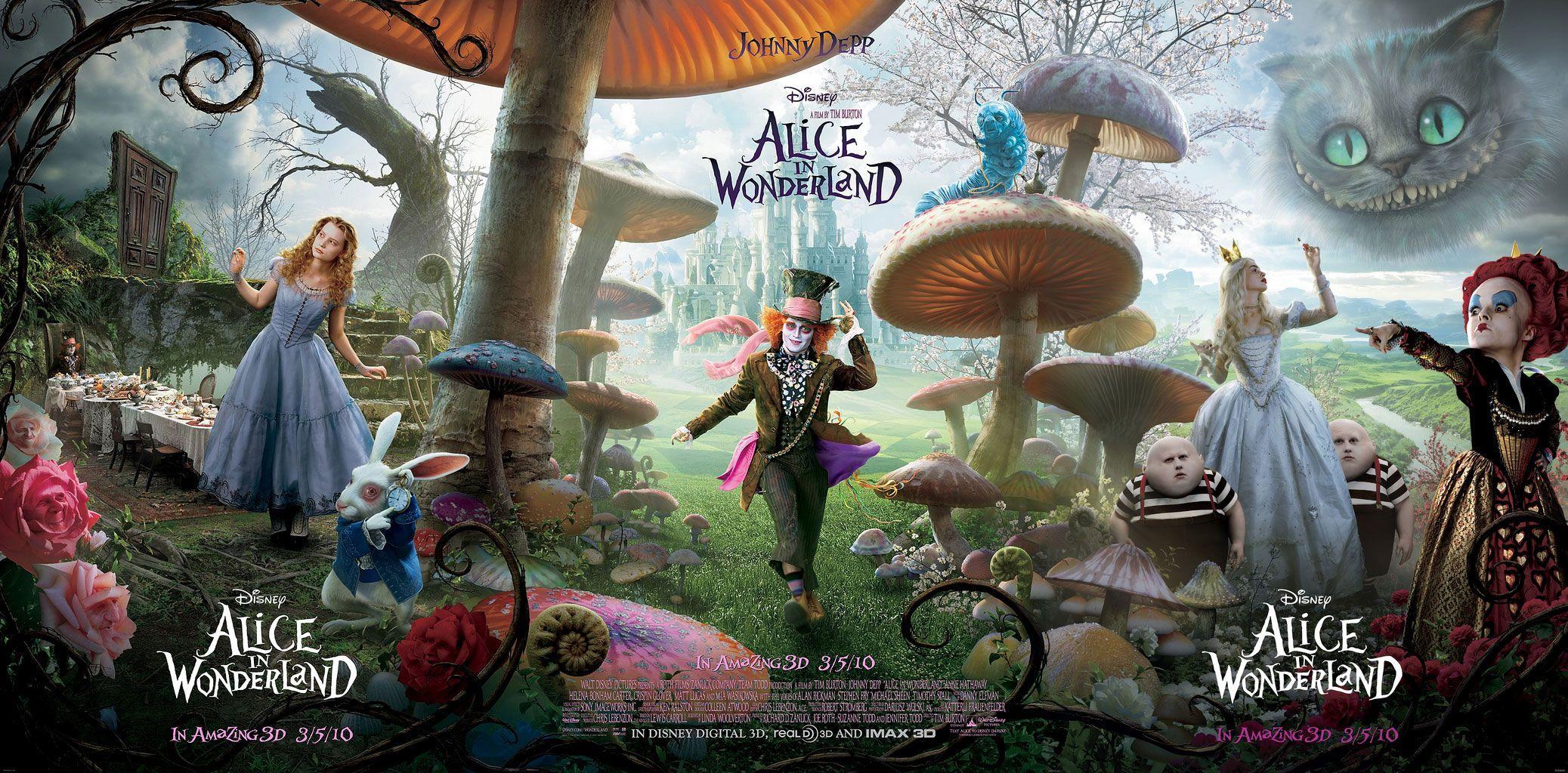 I Heart Tim Burton Alice In Wonderland Wonderland Wallpaper Sprookjes