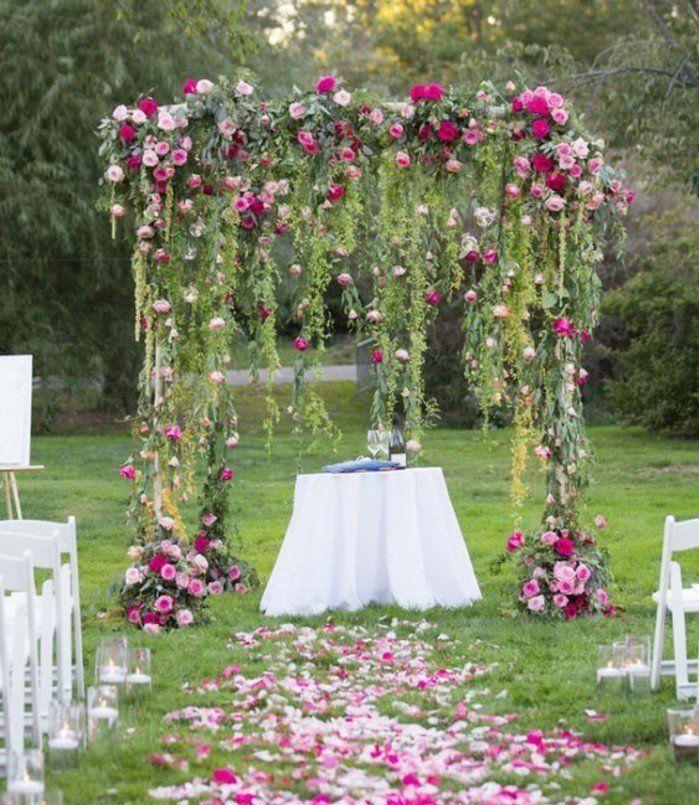 1001 id es pour une arche de mariage romantique et l gante arche mariage guirlande de. Black Bedroom Furniture Sets. Home Design Ideas