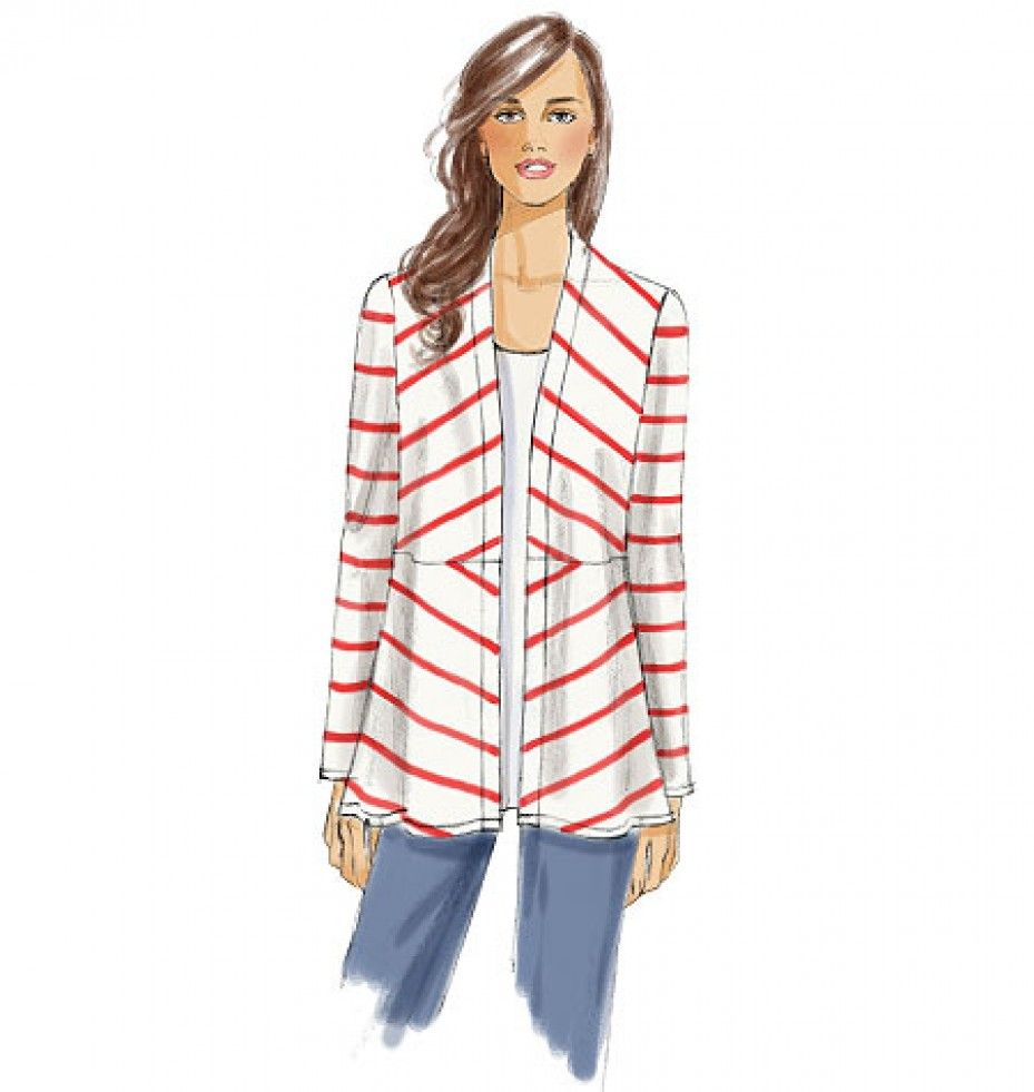 Vogue Sewing Pattern 8819 Ladies Jacket | Minerva Crafts | Sewing ...
