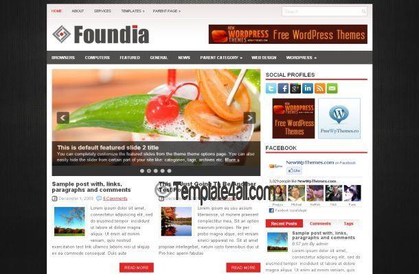 Free Gray Black Business Wordpress Theme Template #wordpress