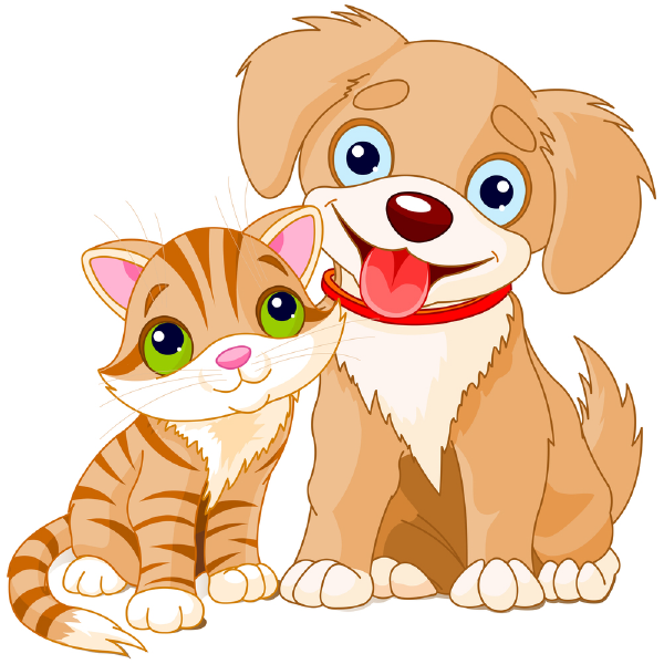 Clipart of a Cartoon Happy Puppy Dog and Cat Soaking in a ... |Puppy Dog And Cat Clipart