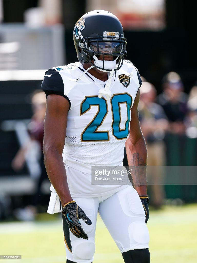huge discount 579b3 91f3a Cornerback Jalen Ramsey of the Jacksonville Jaguars during ...