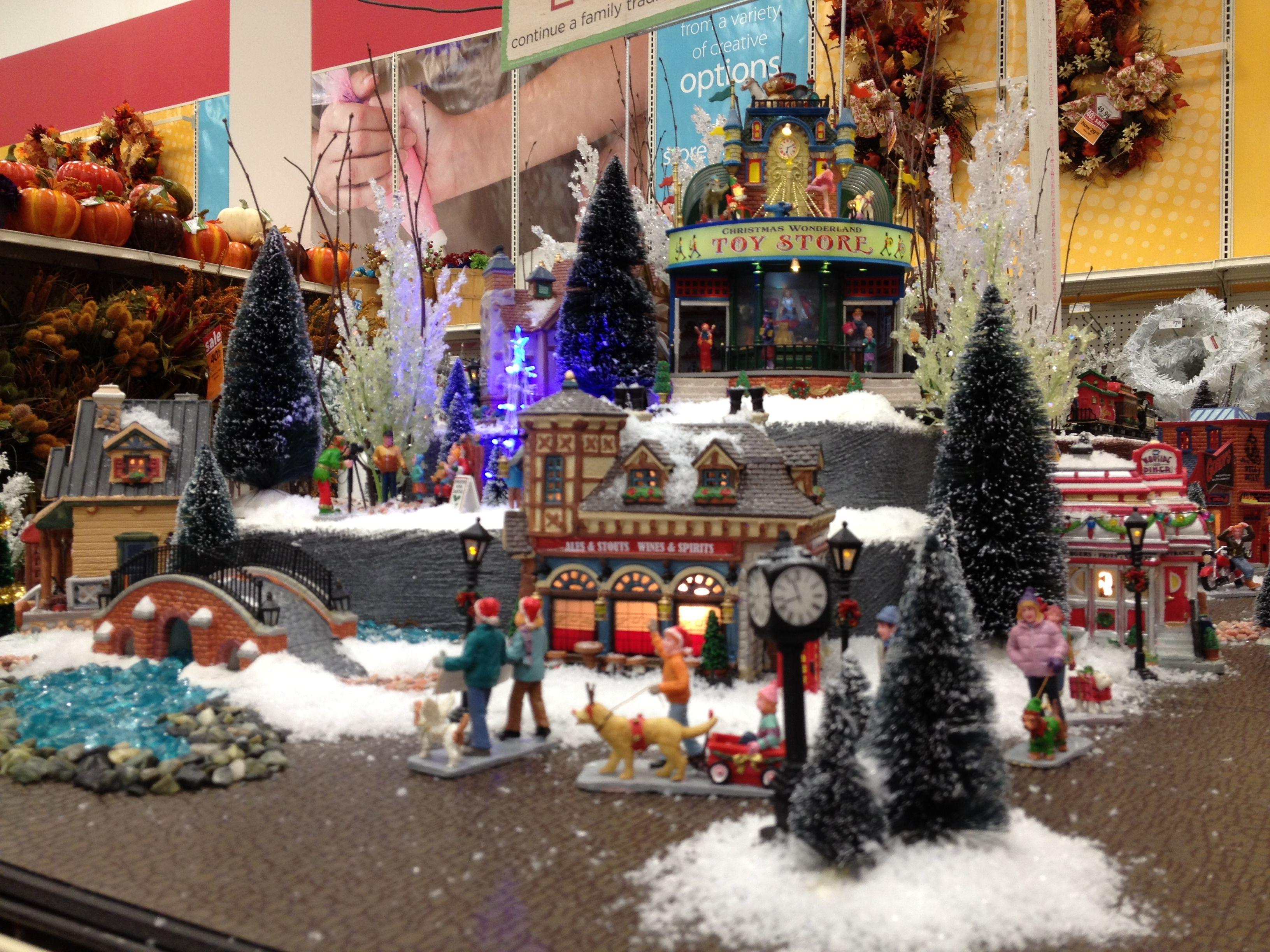christmas lemax display 2012 - Michaels Christmas Village