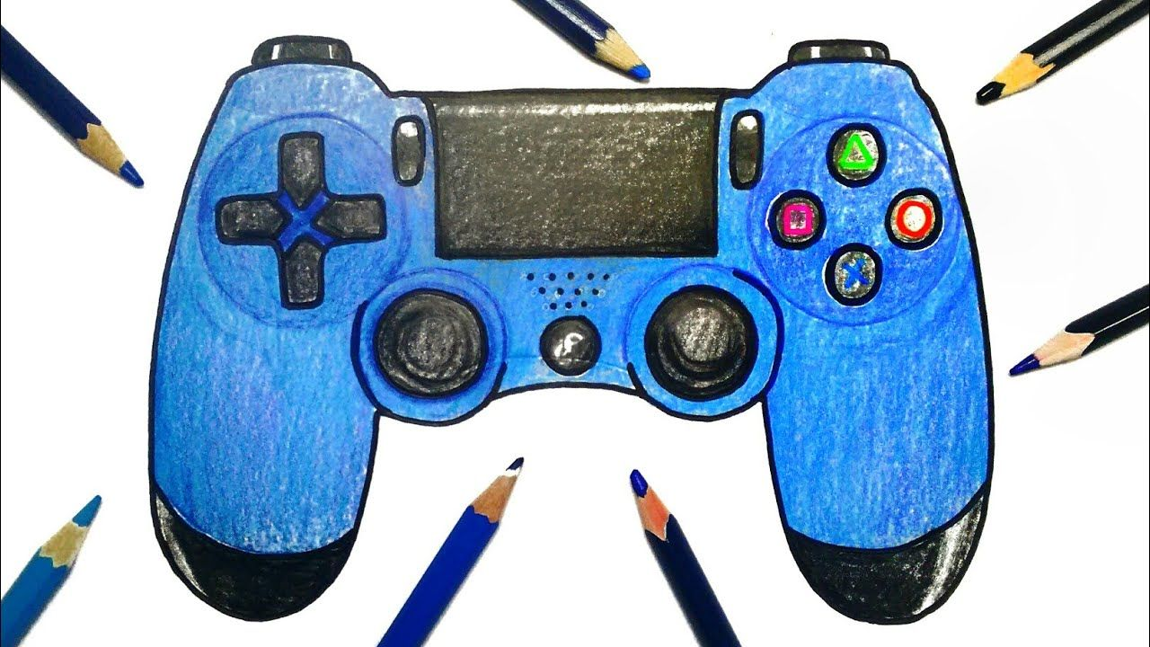 How To Draw Playstation Controller Playstation Controller