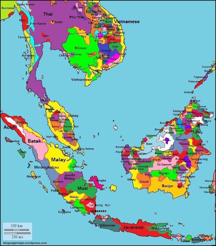 Indonesia Languages Maps Pinterest Language Indonesia And - Asia language map