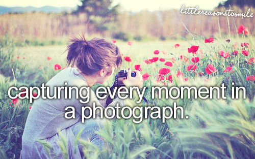 Capturing every moment in a photograph
