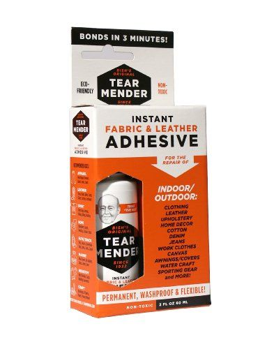 Tear Mender Instant Fabric Leather Adhesive 2 Ounces Tear Mender Http Www Amazon Com Dp B001rqctuu Ref Cm Sw R Pi Dp Leather Adhesive Fabric Glue Adhesive