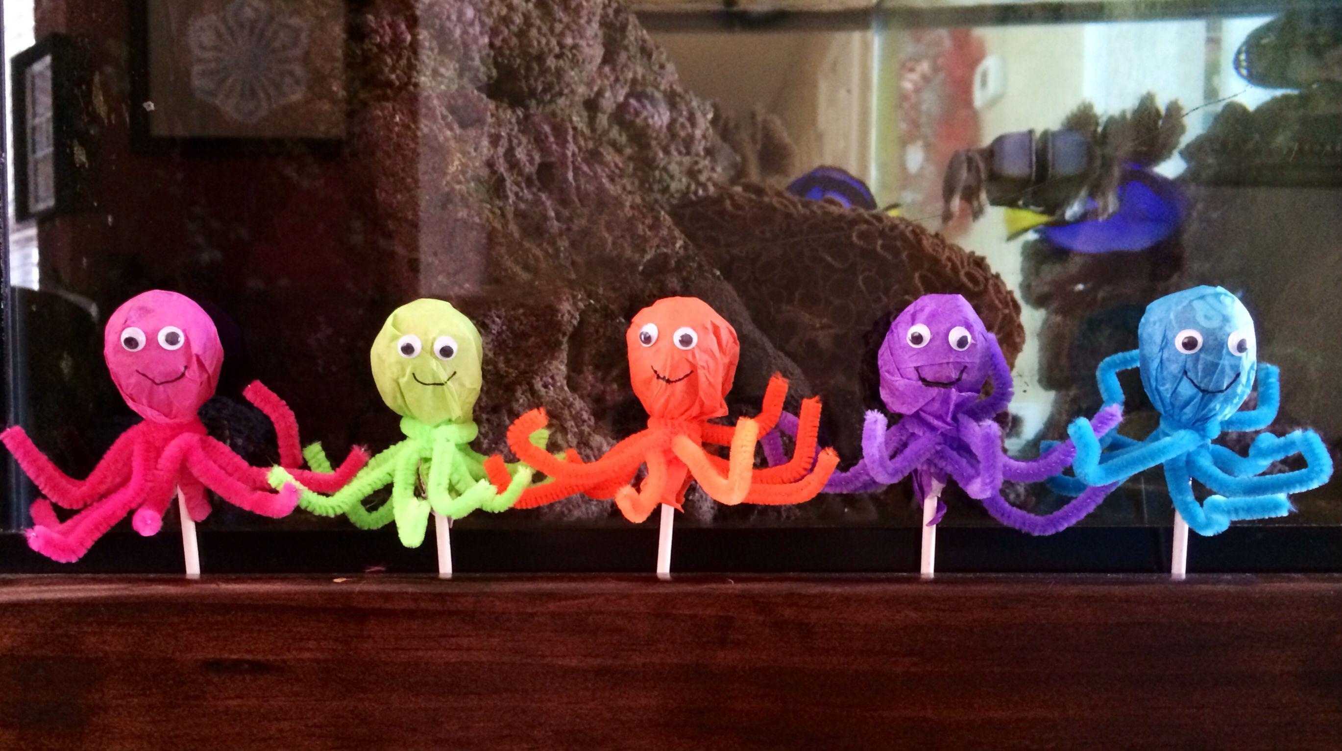 Octopus Lollipops In