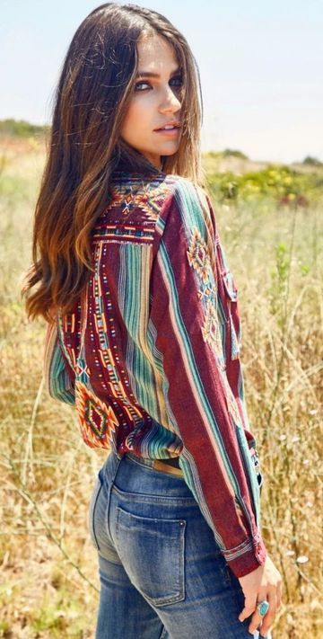 The Chantico Aztec Embroidered Shirt