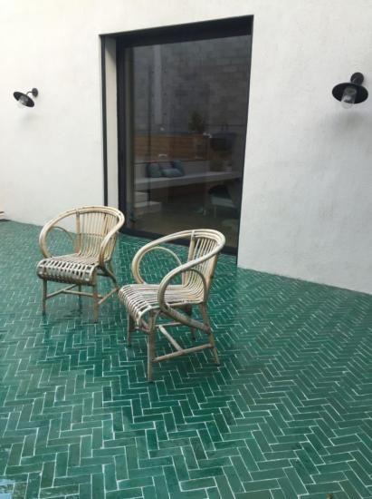 Bejmat Vert Pour Sol De Salle De Bain Bejmat Salle Terrace Tiles Terrace Floor Architecture