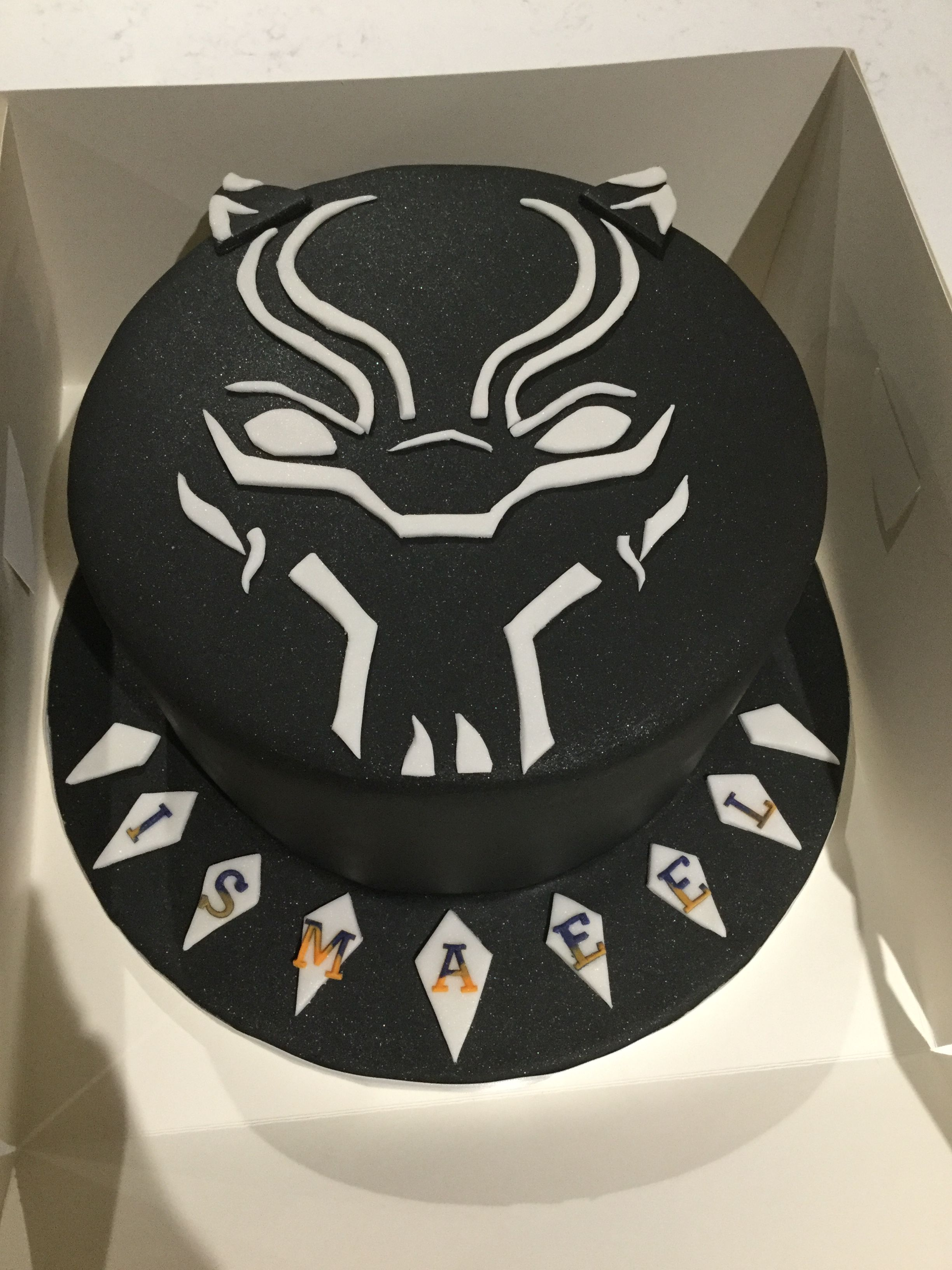 Marvel Black Panther Cake With Images Marvel Birthday Cake