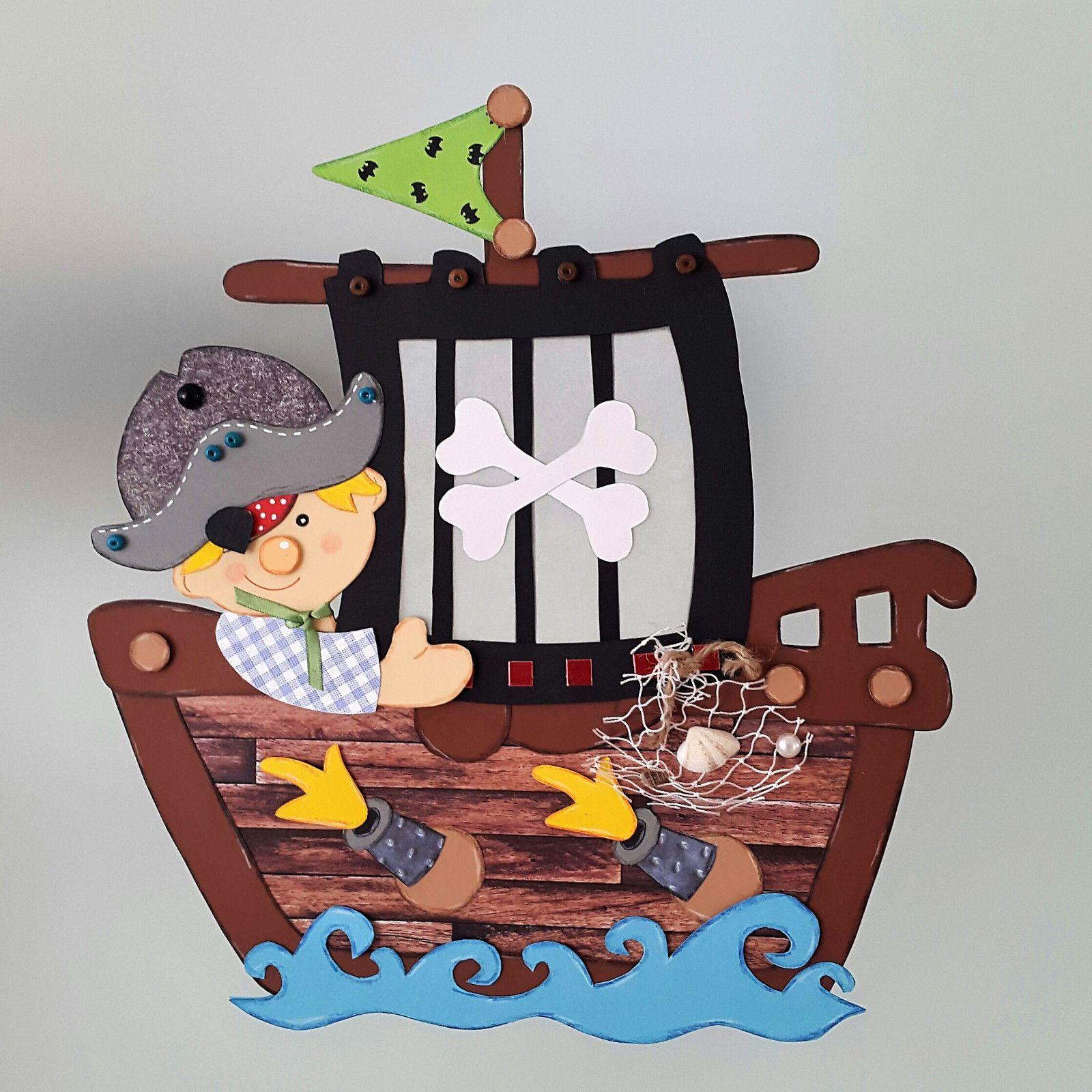 Fensterbild Pirat Kleiner Pirat Im Piratenschiff Kinder