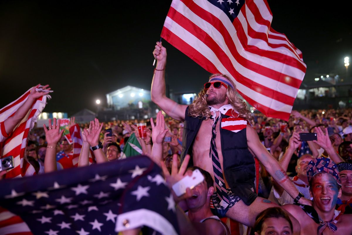 Photos The Usa Fans In Brazil Were Amazing World Cup Soccer Fans World Football