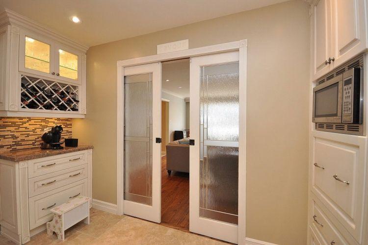 Schiebetur Zwischen Kuche Und Wohnzimmer Aus Holz Oder Glas