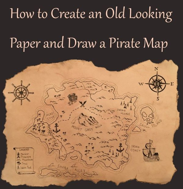 how to create and draw a treasure map method to make a paper sheet