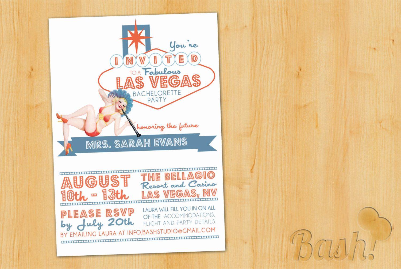Vintage Vegas Pinup Printable Bachelorette Party Invitation. $15.00 ...