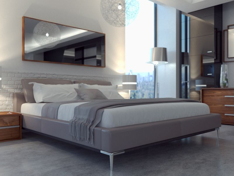 Best Movido Bed By Modani Furniture Contemporary Bed Grey 400 x 300