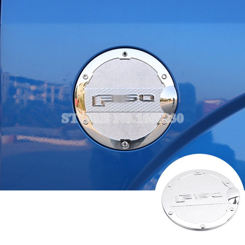Silver Fuel Filler Cover Gas Tank Cap Cover Trim For Ford F150 F 150 2015 2017 Affiliate Interior Accessories Interior Best