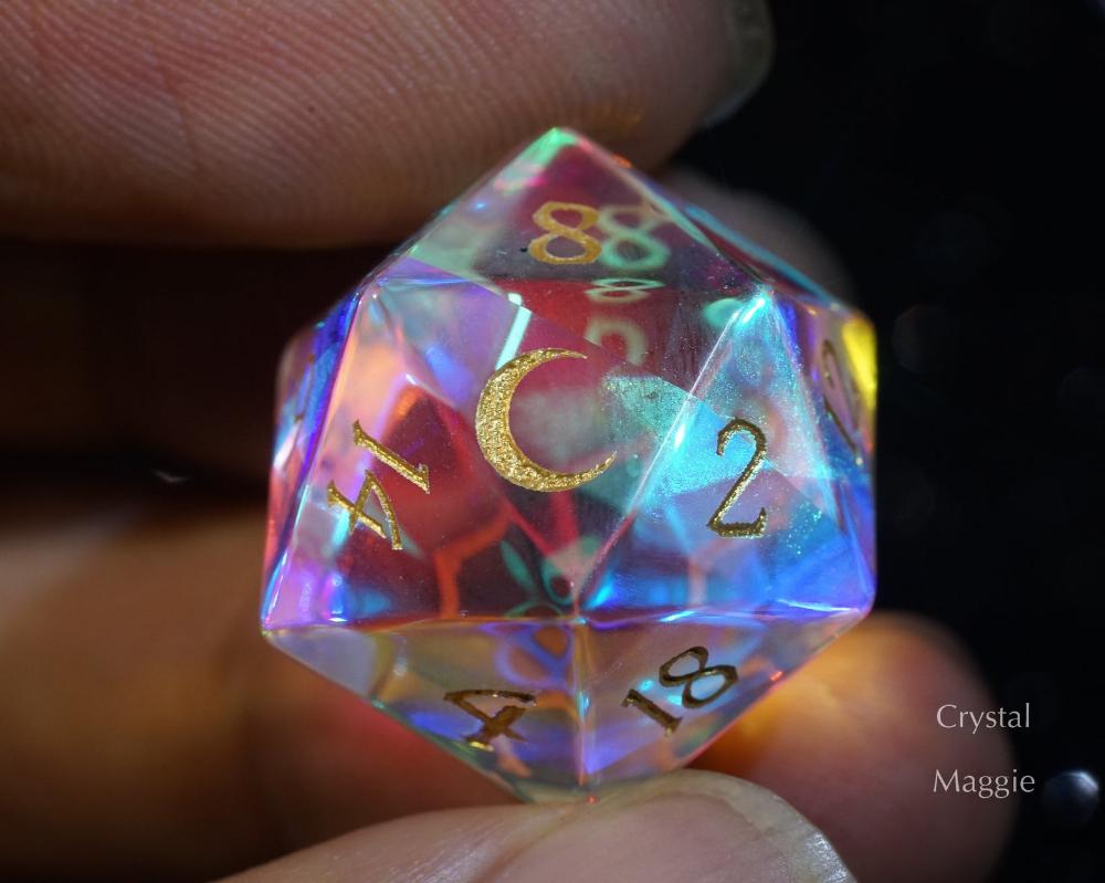 Fantastic Glass Dnd Dice Set Dice Set Gemstone Dice Set Moon
