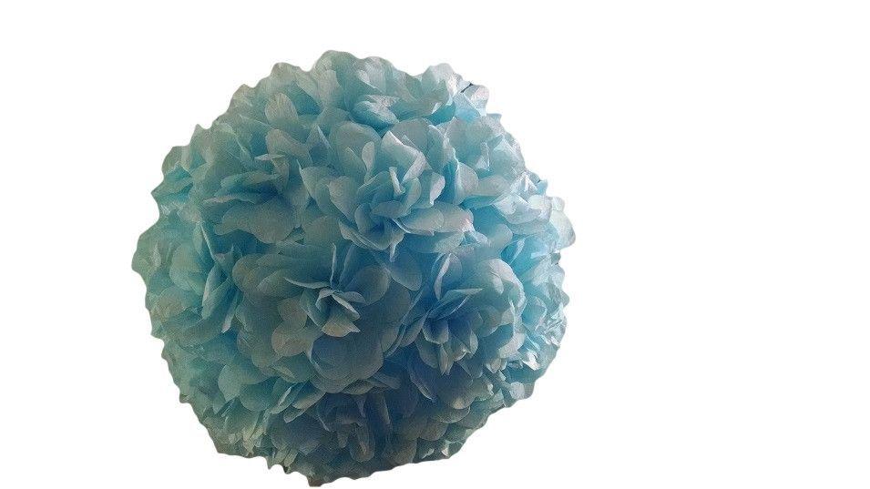 Blue Flower Pom Pom Lantern