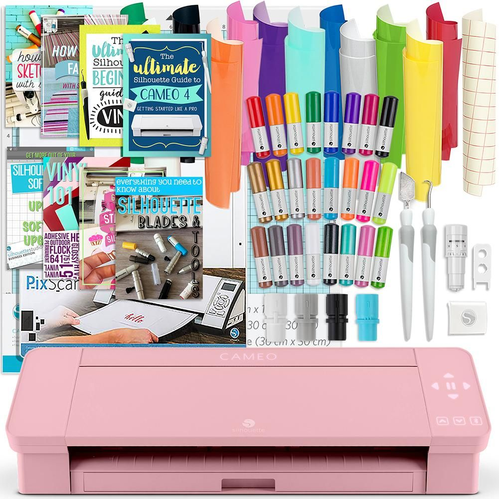 Guides Silhouette Blush Pink Cameo 4 w//Blade Pack Pens More HTV 38 Oracal Sheets