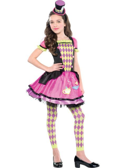 Girls Miss Mad Hatter Costume - Party City Canada  cbe93e310c8