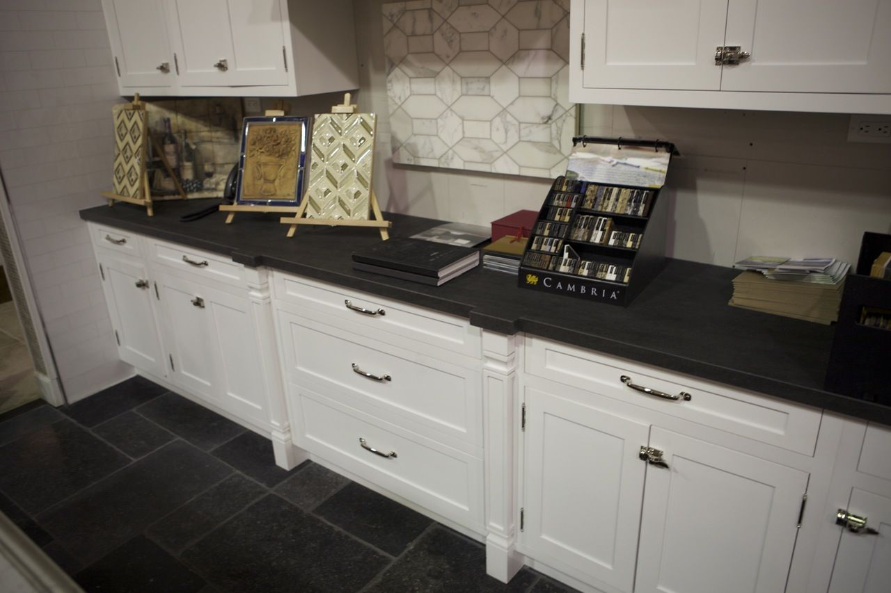 slate floor kitchen black kitchen countertops Black Italian Limestone Countertops Be The First To Leave A
