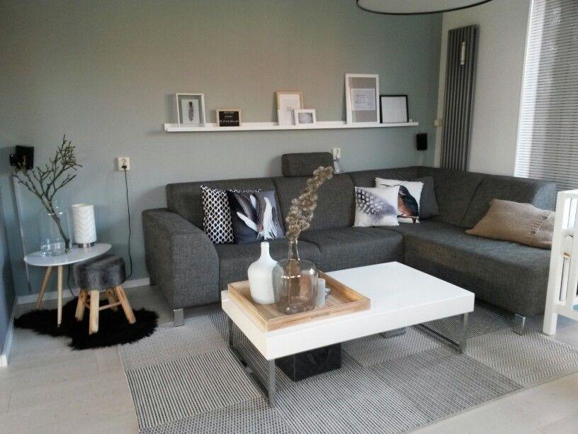 Woonkamer muur flexa early dew! Fotolijstplank van WOOOD 2 x 120 cm   New home   Pinterest