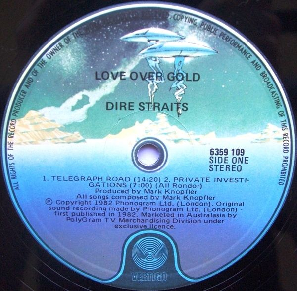 Dire Straits Love Over Gold Love Over Gold Dire Straits Love
