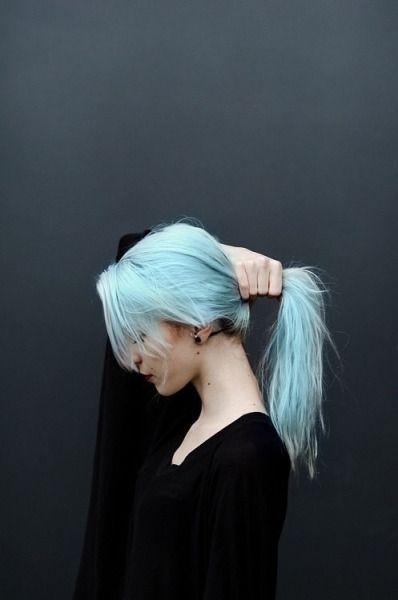 Grunge Style Girl Tumblr Colored Hair Pinterest Hair Blue