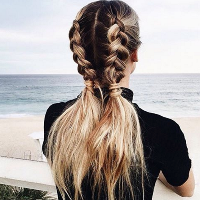 11 Ways To Wear Braided Pigtails That Don T Look Childish Hair Styles Long Hair Styles Medium Hair Styles