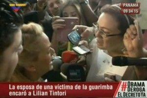 Yendry Velásquez afronta a Lilian Tintori en las afueras del Foro Sociedad Civil y Actores Sociales en Panamá