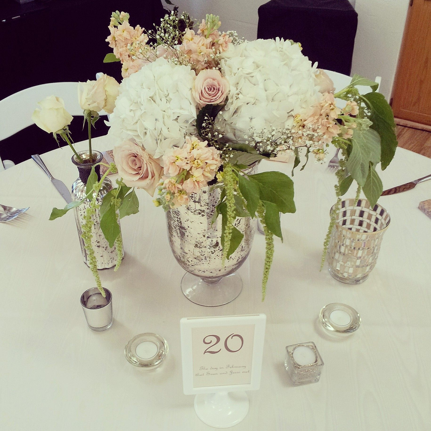 Romantic Mercury Glass Centerpieces From Jessi And Seans February