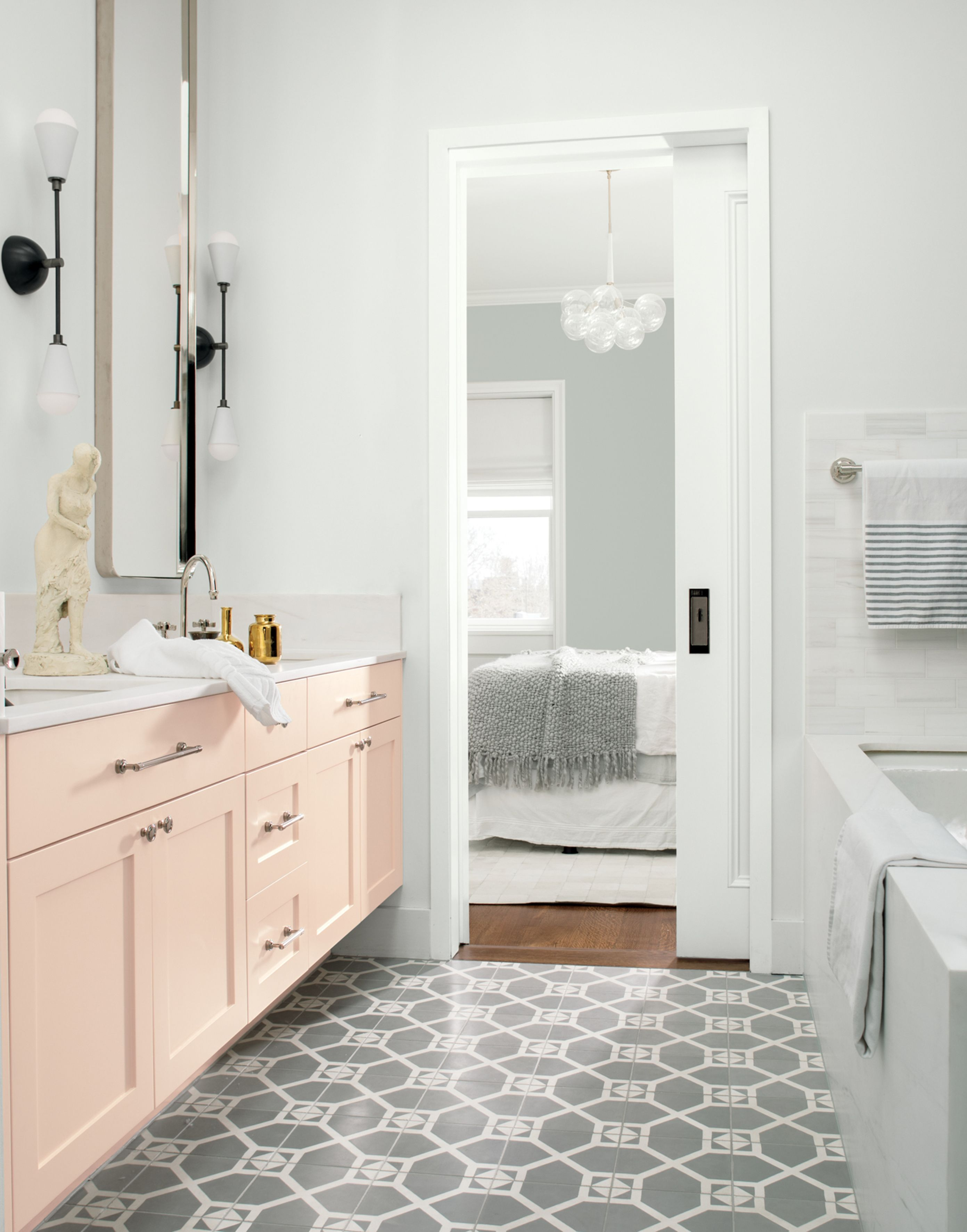 bathroom colors for 2020 - 735×936