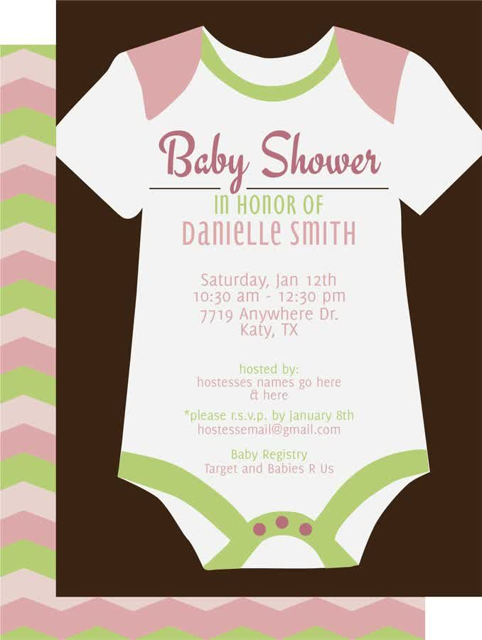 Baby Shower Invitations, Coed Baby Shower Invitations Clothes White ...