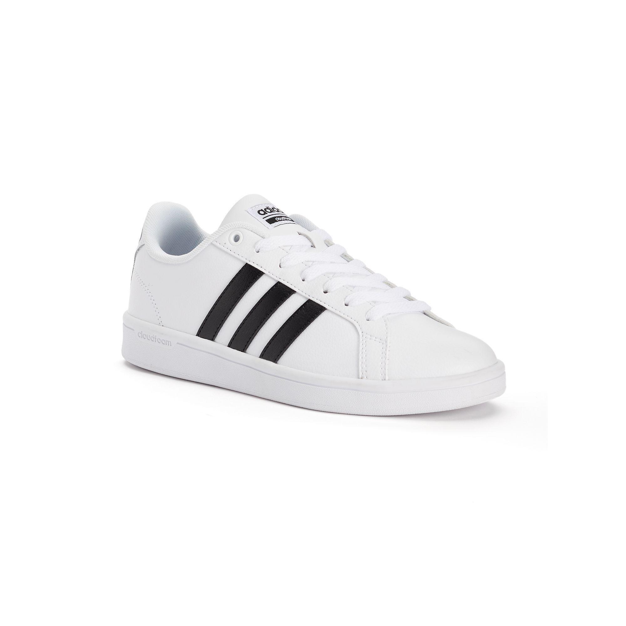 wholesale dealer fddf9 516be ... White AW4306 Adidas NEO Cloudfoam Advantage Stripe Women s Shoes, Size   10, ...