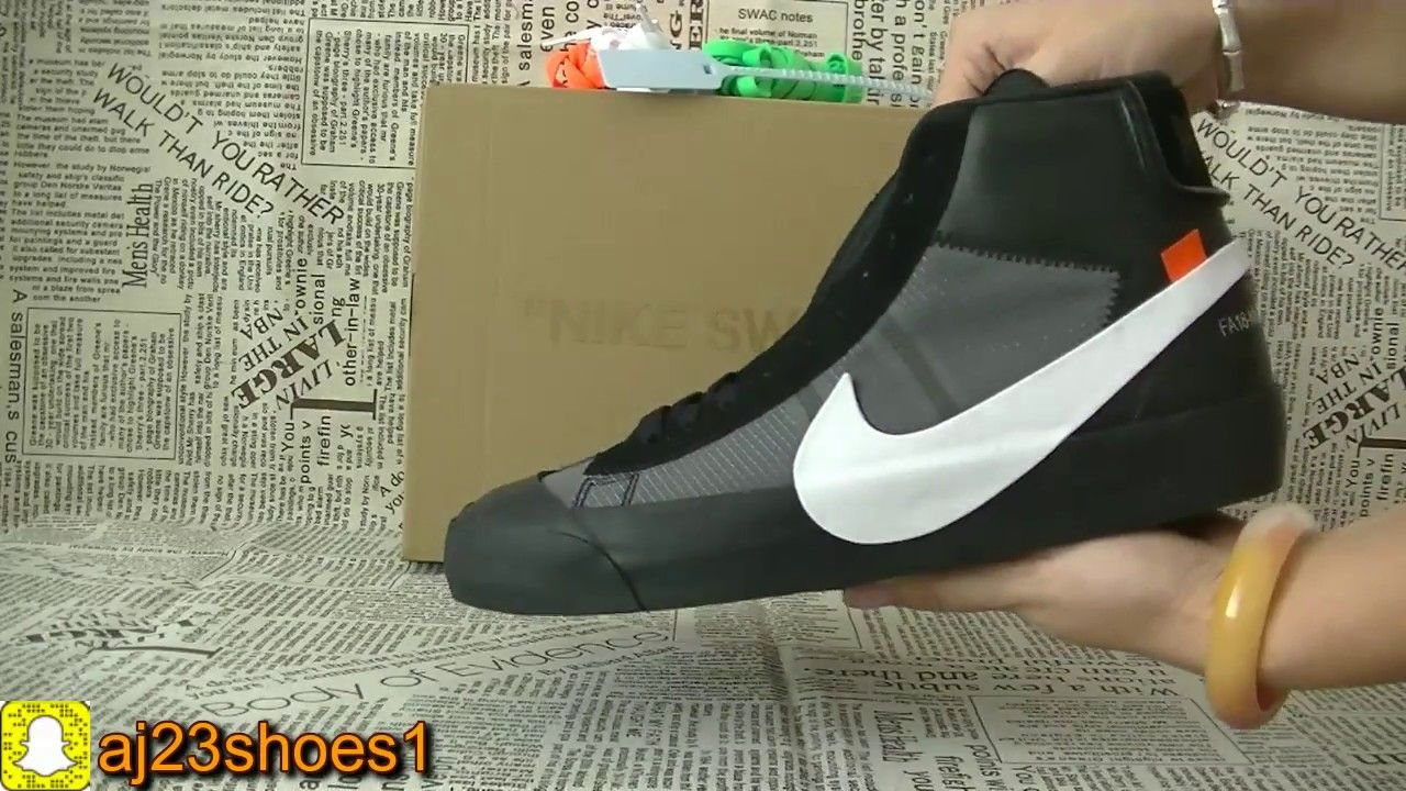 b5ee22b6792fb Off White Blazer Grim Reaper Unboxing + Review from aj23shoes net1. Find  this Pin and more on Youtube Shoes ...