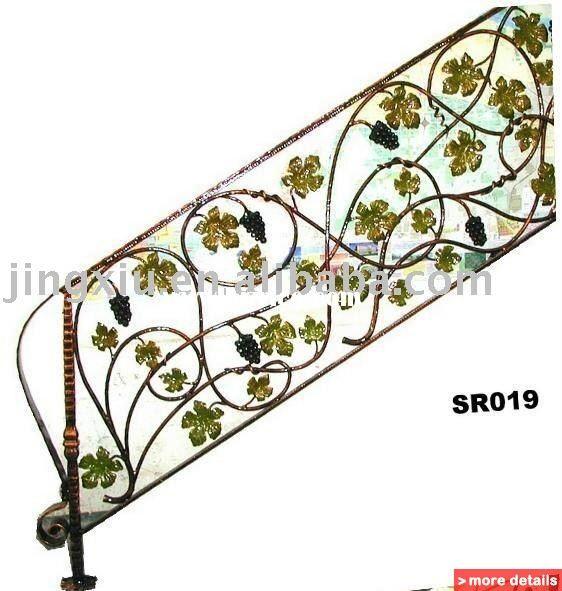 Painted Grape Wrought Iron Railing Iron Railing Wrought Iron