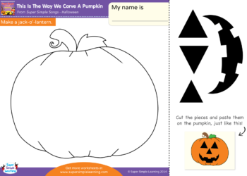 This Is The Way We Carve A Pumpkin Worksheet Make A Jack O