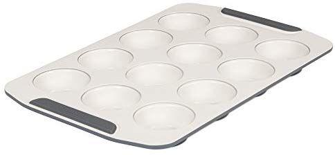 Farberware purECOok Hybrid Ceramic Nonstick Bakeware Muffin /& Cupcake Pan Aqua 12-Cup
