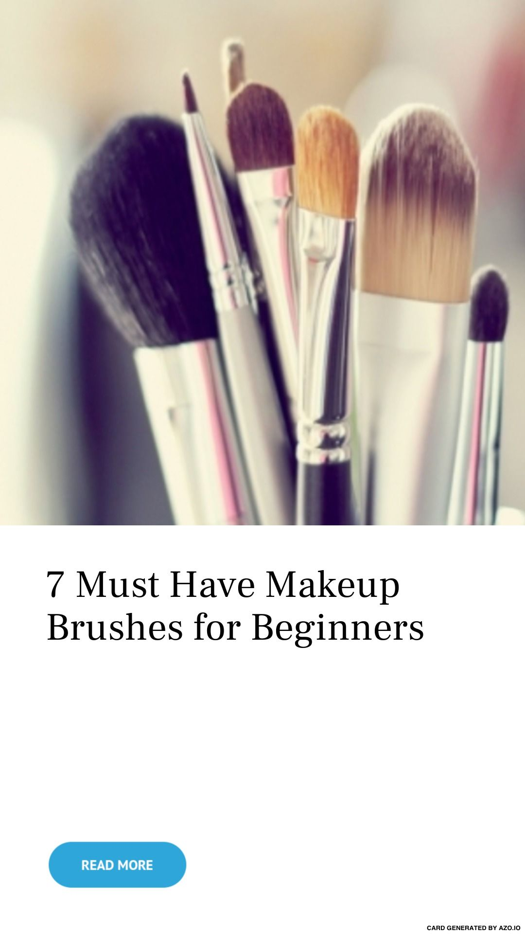 7 Must Have Makeup Brushes for Beginners Makeup