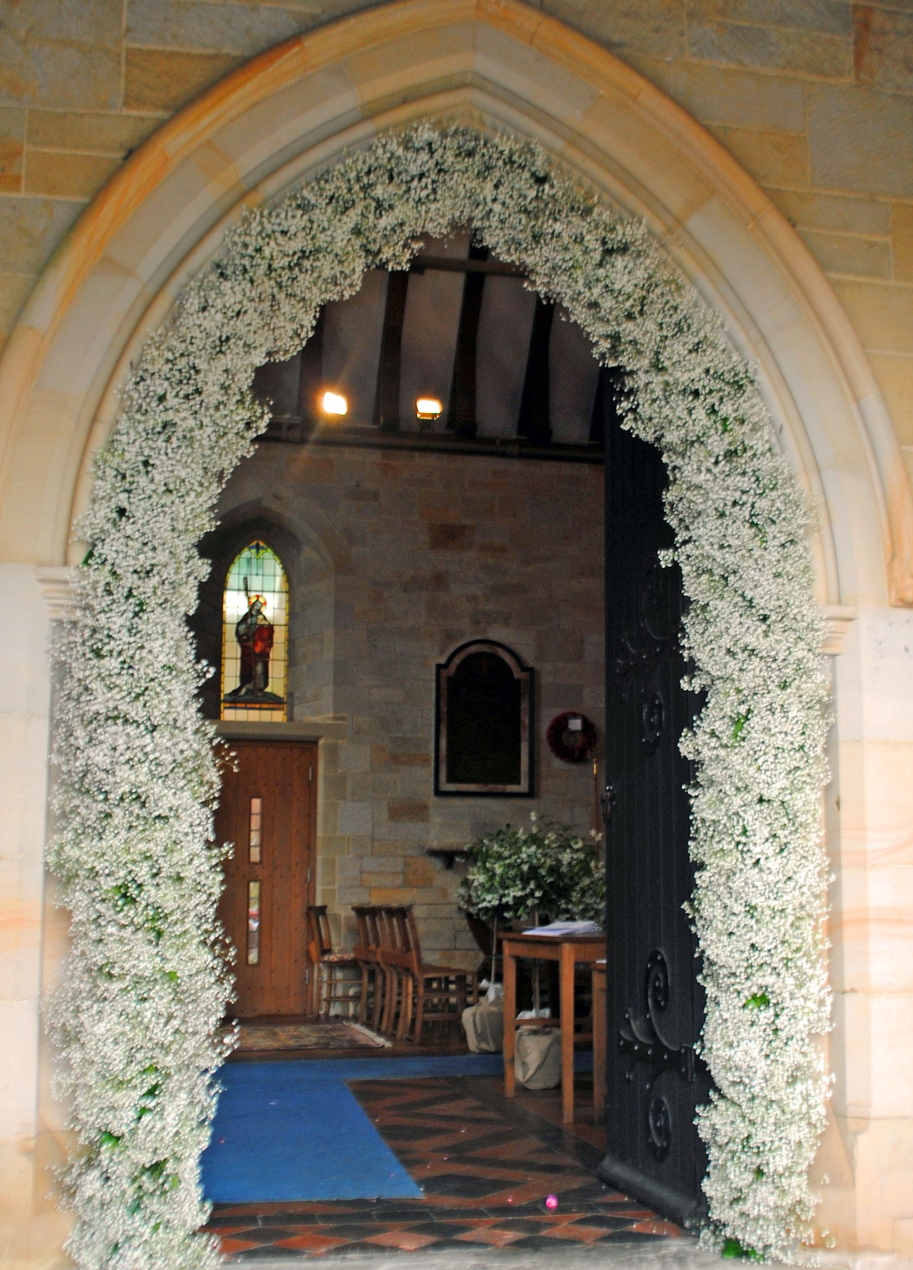 Church wedding arch decoration aisle pinterest wedding and wedding church wedding arch decoration junglespirit Image collections
