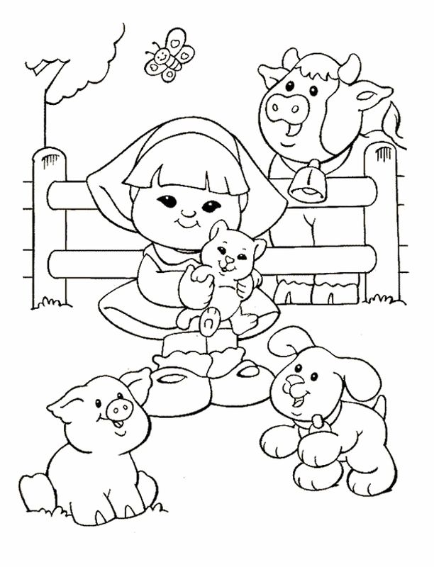 Little People Coloring Pages 16