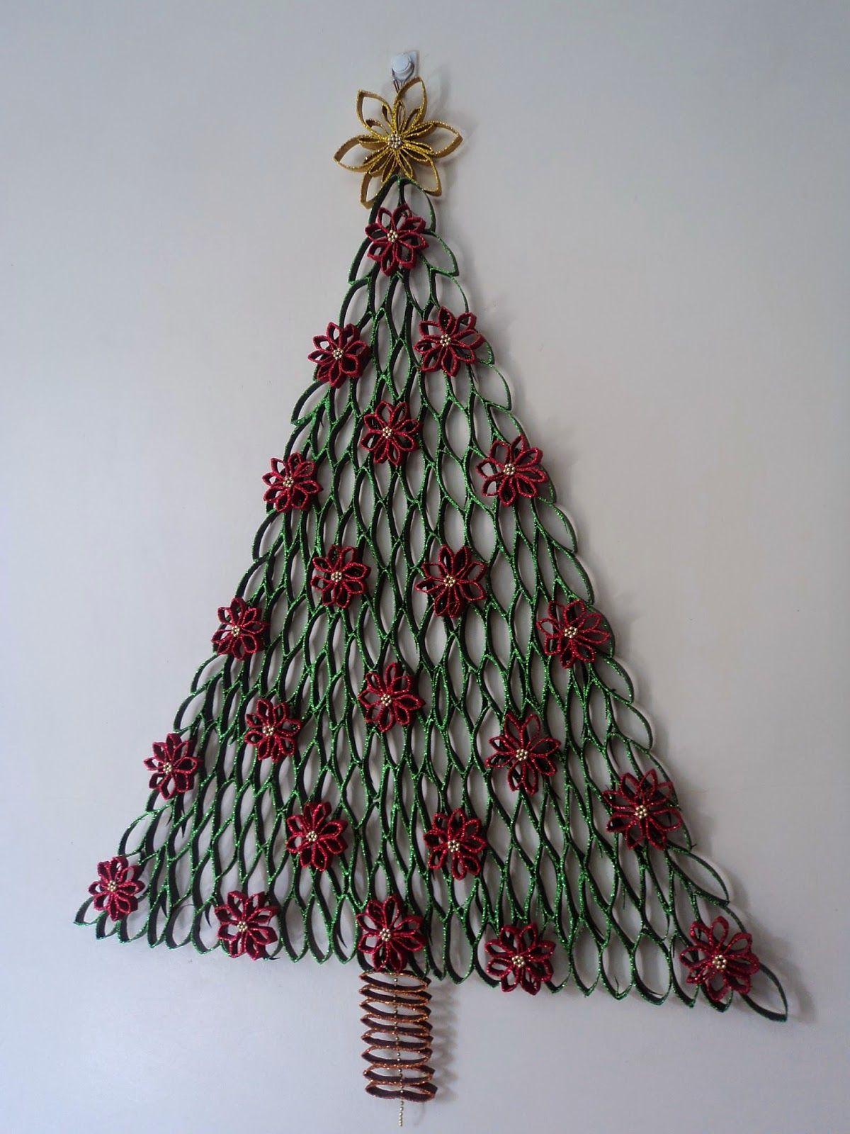 Manualidades para navidad con rollos de papel higienico - Adornos de navidad con papel ...